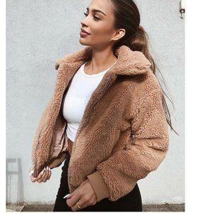 Women Casual Warm Oversized Teddy Fur Coat